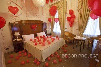 Романтические выходные. Гостиница Savoy Савой. Комната 515. Декор номера воздушными шариками. Бюджет 15 000